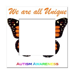 Butterfly: Autism Awareness Square Locker Frame