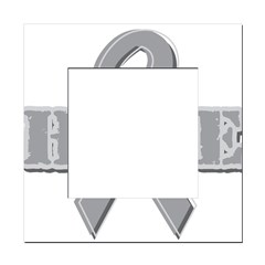 Silver Hope Ribbon Square Locker Frame