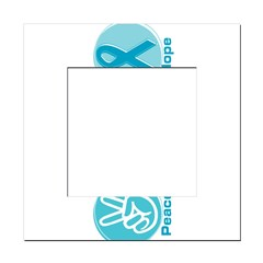 Peace Love Teal Hope Square Locker Frame