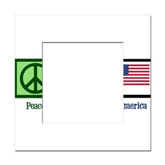 Peace Love America Square Locker Frame