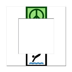 Peace Love Diving Square Locker Frame