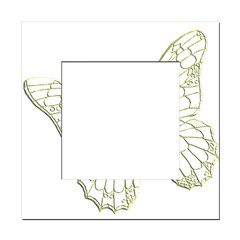 Embossed Butterfly Square Locker Frame