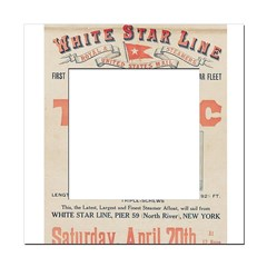 Titanic Advertising Card Square Locker Frame