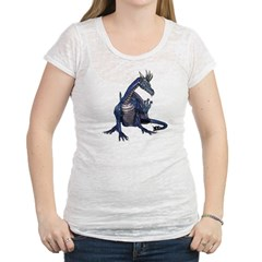 Blue Dragon Womens Burnout Tee