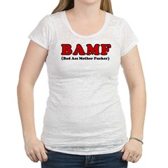 BAMF Womens Burnout Tee