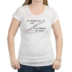 Cure Womens Burnout Tee