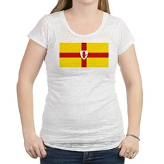 Ulster Flag Womens Burnout Tee