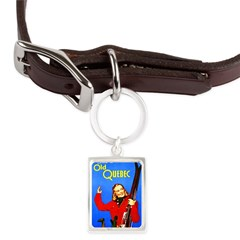 Quebec Travel Poster 1 Large Portrait Pet Tag
