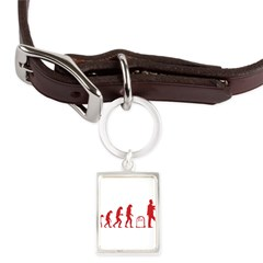 Evolution zombie Large Portrait Pet Tag