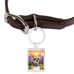 Chihuahua Meadow Large Portrait Pet Tag