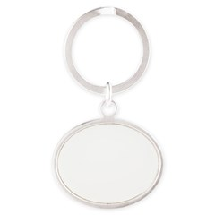 Norway (Flag, International) Oval Keychain
