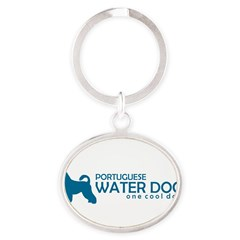 "P. Water Dog ""One Cool Dog"" Oval Keychain"