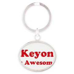 Keyon is Awesome Oval Keychain