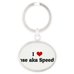 I Love Jose aka Speedy Oval Keychain