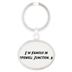 Famous in Hopewell Oval Keychain