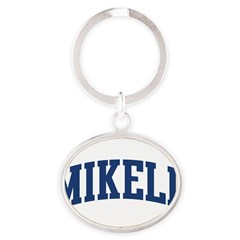 MIKELL design (blue) Oval Keychain