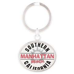 Manhattan Beach CA Oval Keychain