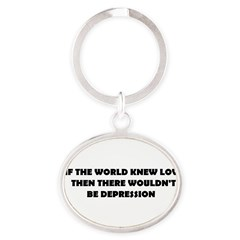 DEPRESSION Oval Keychain