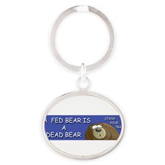 BEAR Oval Keychain