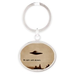 X-Files - We Are Not Alone Oval Keychain