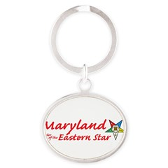 Maryland Eastern Star Oval Keychain