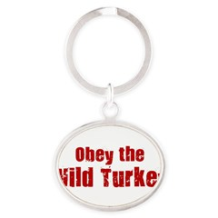 Obey the Wild Turkey Oval Keychain