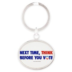 """Think 2012"" Oval Keychain"