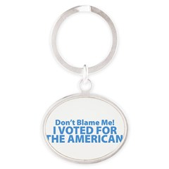 I Voted For The American Oval Keychain