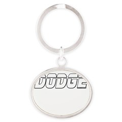 Dodge Oval Keychain