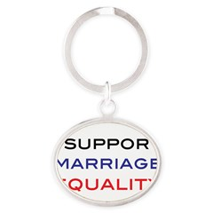 marriage Oval Keychain