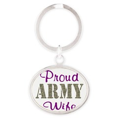 Army Purple Home/Office Oval Keychain