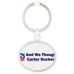 Anti-Obama Oval Keychain