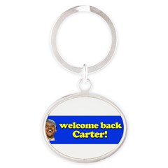 Welcome Back Carter Oval Keychain