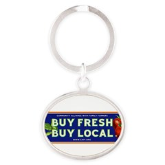 Buy Fresh Buy Local classic Oval Keychain