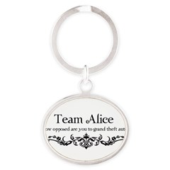 Team Alice Theft Oval Keychain