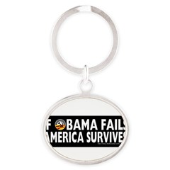 Anti-Obama Obama Fails America Survives Oval Keychain