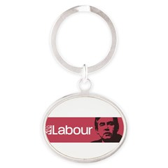 Gordon Brown Labour Party Oval Keychain