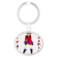Pirate Fashion Oval Keychain
