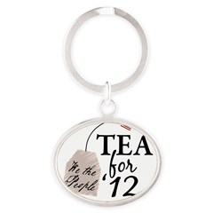 Vote Tea Party 2012 Oval Keychain