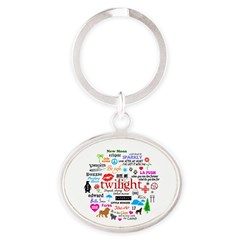 Twilight Memories Oval Keychain