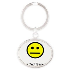 Have an Indifferent Day (Y) Oval Keychain