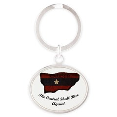 the Central Shall Rise Again Oval Keychain