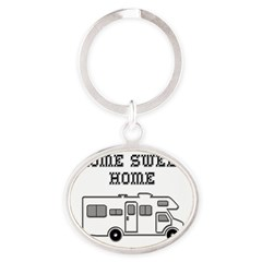 Home Sweet Home Mini Motorhome Oval Keychain