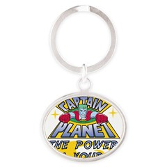 Captain Planet Power Oval Keychain