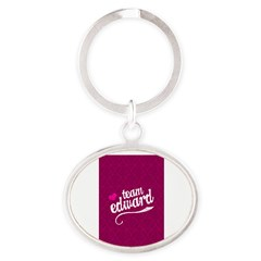 Team Edward Oval Keychain