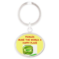 pickles Oval Keychain