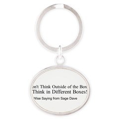 Boxes Oval Keychain