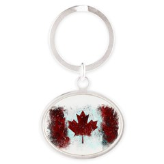 Canadian Graffiti Oval Keychain