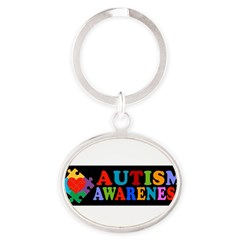 Autism Awareness Oval Keychain