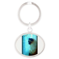 DollyCat Atmosphere - Ragdoll Cat - Oval Keychain